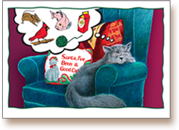 Karma_the_cat_illustrated_for_Holiday_Christmas_card